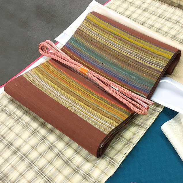Kimono Color Arrangement for Obiage (Obi sash) & Obijime