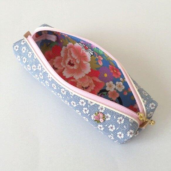 新生活が楽しくなる!着物をリメイクした小花模様のペンケース