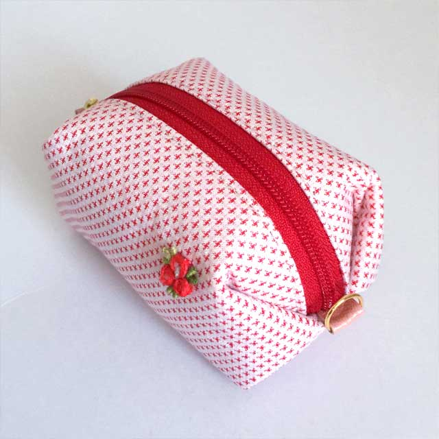 Small Pouch with Japanese traditional pattern Silk Kimono