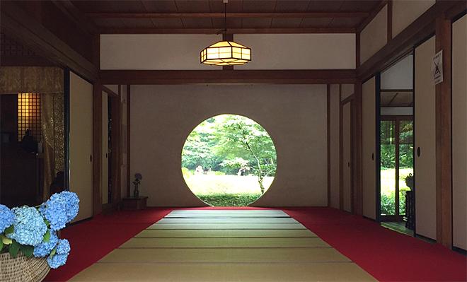 『北鎌倉あじさいさんぽ』 明月院の丸窓